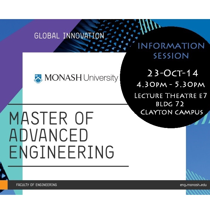 Master of Advanced Engineering Information Session