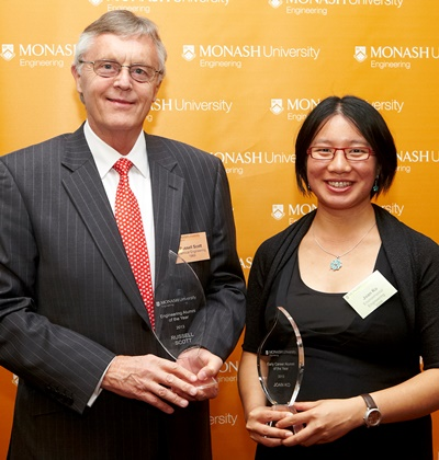 Recipients Russell Scott and Joan Ko