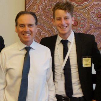 Ian Lieblich (R) and The Hon. Greg Hunt MP (L) in Canberra as part of the pre-delegation briefing seminar.