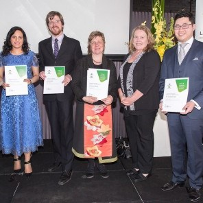 L-R: Joy Whitton, Dr Safeera Hussainy, Dr Kris Ryan, Dr Becky Batagol, Kerry Allison and Jonathan Teoh.